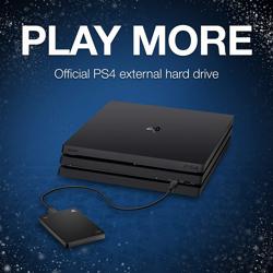 PS4 Seagate 2TB Gaming Drive. ürün görseli