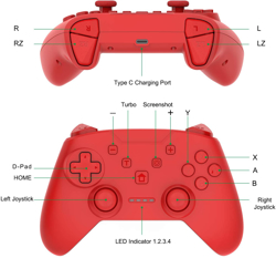 Momen Nintendo Switch Pro Controller Kırmızı. ürün görseli