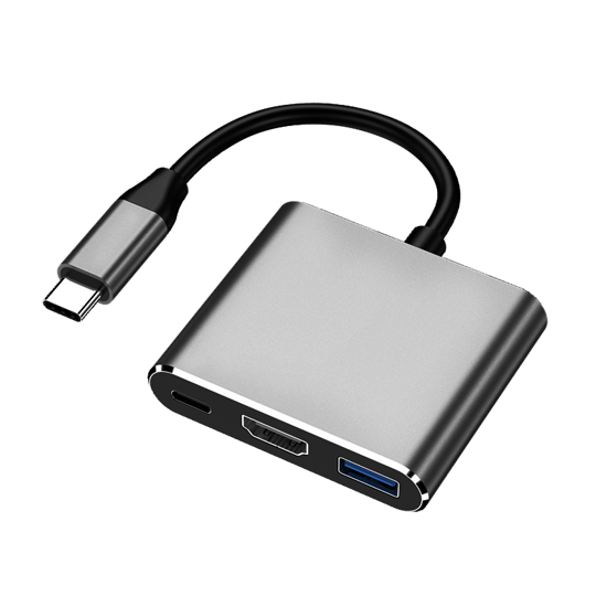 HONCAM 3 in 1 HDMI USB Type C USB 3.0 Macbook Çevirici Adaptör. ürün görseli