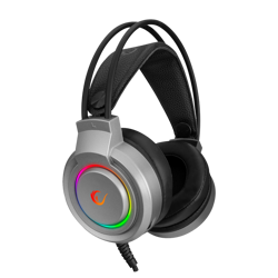 Rampage RM-X5 AIRS Gri CMEDIA Led Aydınlatmalı Gaming Mikrofonlu Kulaklık. ürün görseli